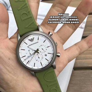 Emporio Armani Luigi Green Silicone Men's Watch AR11022