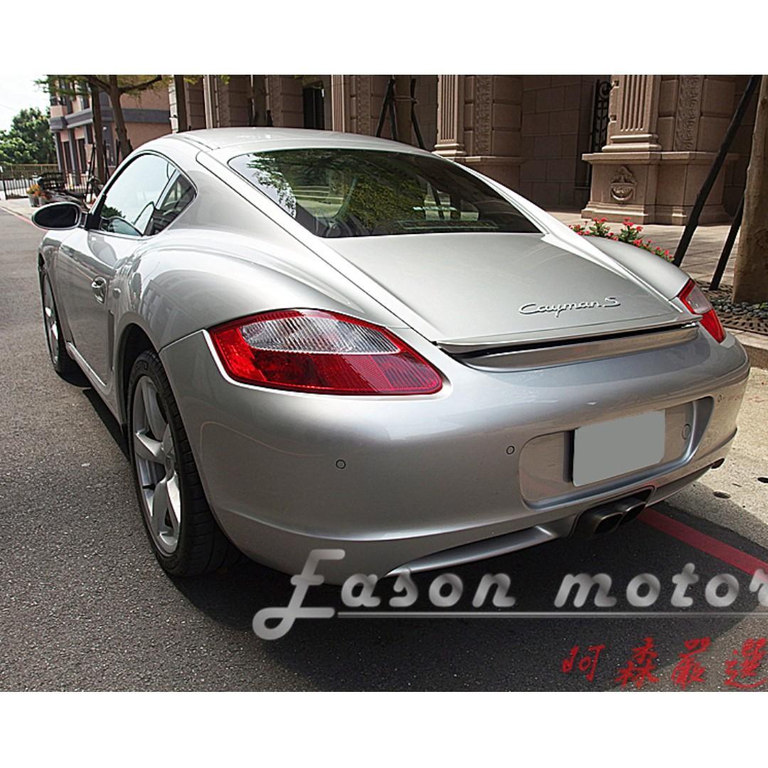 2006年Porsche Cayman S總代理/中置引擎後驅底盤/3.4升六缸引擎/295匹馬力
