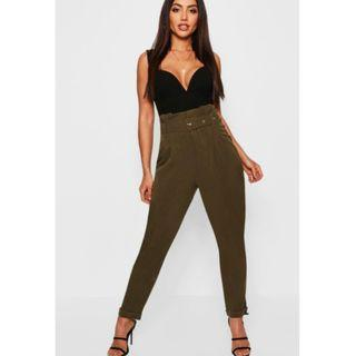 Brand New Paperbag Belted Trousers