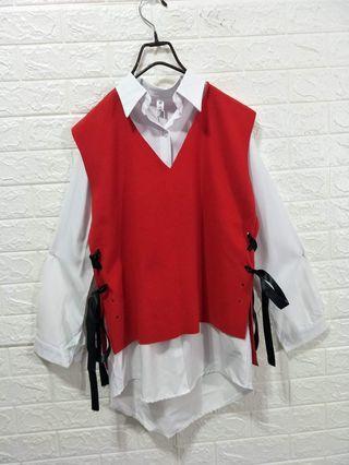 全新日本購入襯衫套裝襯衫+背心