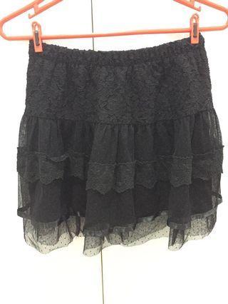 Korean Black Lace Skirt