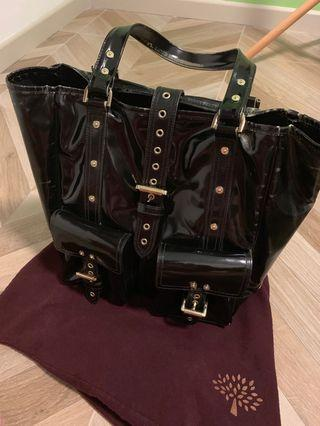 🚚 Mulberry patent leather tote
