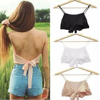 Back Ribbon Tie Top