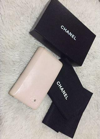 Authentic Chanel Camellia Bifold Long Wallet