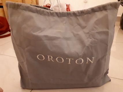 ** New & 100% & Authentic Money Back Guarantee OROTON saffiano leather navy tote bag **