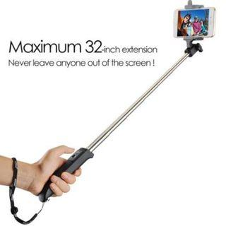 Mpow iSnap Y Portable Monopod Extendable Selfie Stick with built-in Bluetooth Remote Shutter, Black,New