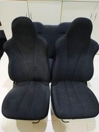 Seat kancil l500s japan mira baldu biru gelap hitam
