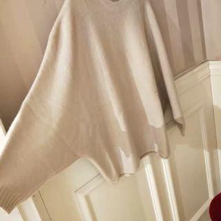 蝙蝠衫毛衣宽松针织衫上衣