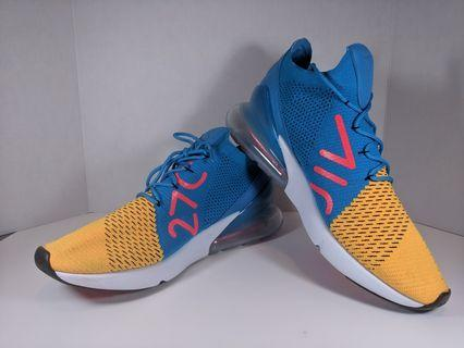 Nike Air Max 270 Flyknit Laser Orange Blue Orbit size 13