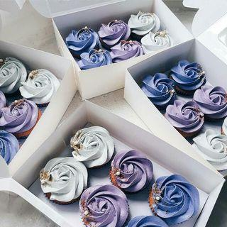Mothers Day Rosette Floral Cupcakes