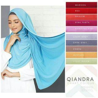 Qiandra Instant Shawl Hijab Tudung Muslimah
