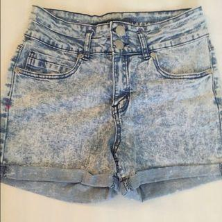 Cotton on/CO Acid washed HWS hws high waisted shorts