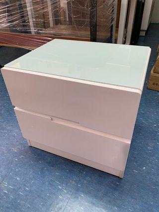 🚚 Bedside Table/glossy table