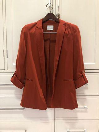 Bershka Brown / Burnt Orange Blazer size S