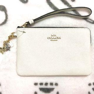 💢折實價HK$320💢Coach White Wristlet