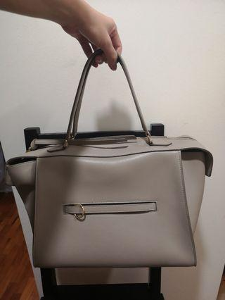 Authentic Celine Ring Bag in Taupe