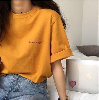 A1613🌸2色*韓系草寫字母寬鬆短袖T恤