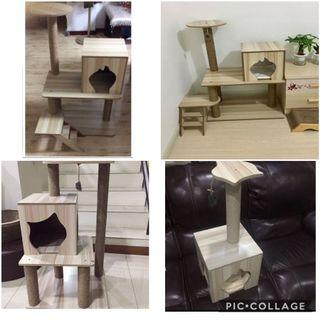 (New!) cat tree scratch pole bed condo