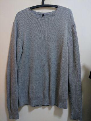 🚚 MUJI灰 針織衫