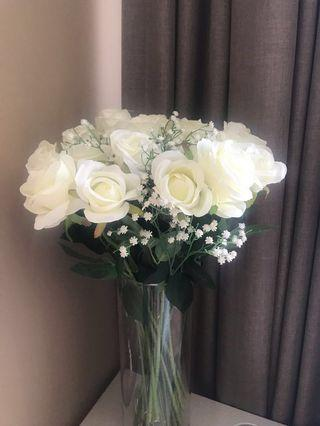 Artificial White Rose