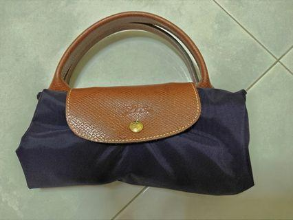 🚚 Longchamp L size tote Bag purple color
