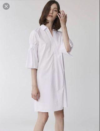 🚚 Collate Tea Time Shirt Dress in White