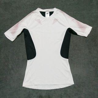 Adidas 日本愛迪達 緊身彈性運動排汗衣防曬衣 T shirt 男M號
