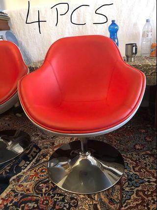 4 chrome leg swivel chair