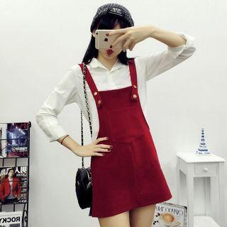 Red Dress Overall/ Pinafore