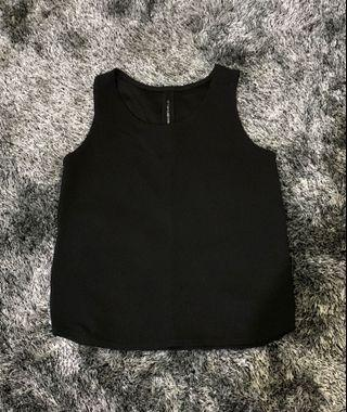Black sleeveless- Fits XS-S body frame, used once, Php 100