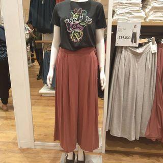BN Uniqlo Pink Tuck Gather Pants