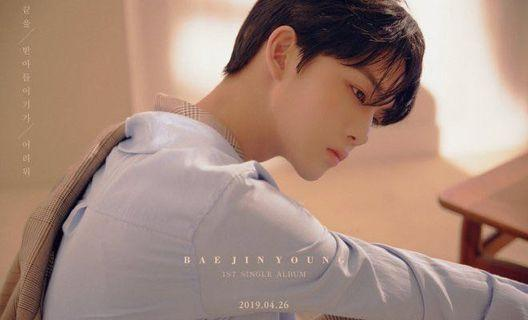 Bae Jin Young 1st Single Album Hard To Say Goodbye + Photobook + Photocard + Poster