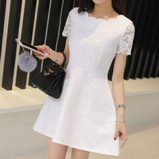 (S) Lace Dress - Cream
