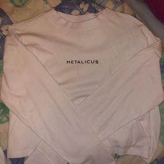 metalicus white tee