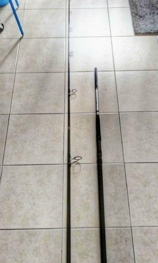 Daiwa emblem pro slim rod 10ft use once. With v fox rod bag. Mint condition.