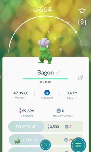 🚚 Pokémon go shiny Bagon