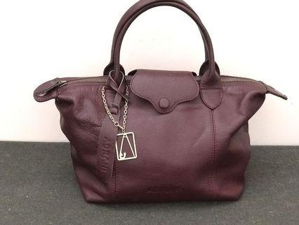 Adrani Leather Handbag Maroon