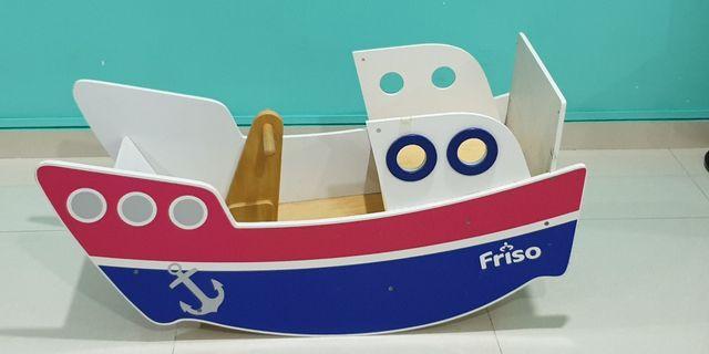 Friso Wooden Rocking Boat