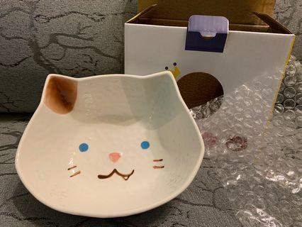 全新有盒 陶瓷碗 bowl 貓