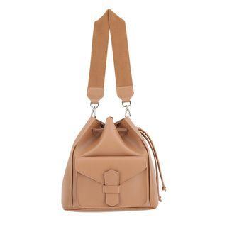 Brown Bucket Handbag