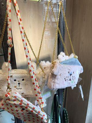 宇宙人craftholic收納包化妝包全新付吊牌日本帶回粉嫩小側背包