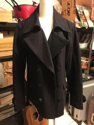 英倫風雙排扣外套-丈青