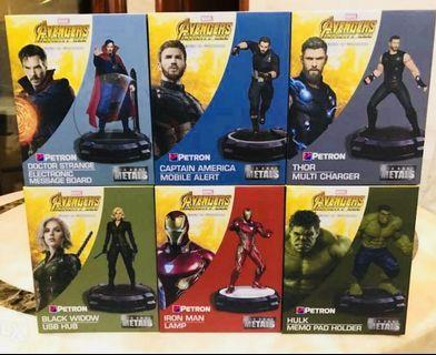 Petron Marvel Avengers Infinity War Desk Collection 6 figures MIB