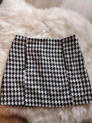 Topshop houndstooth mini skirt