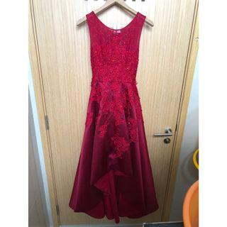 Evening Gown / Wedding Gown - Red Sequin