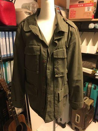 軍裝外套-軍綠