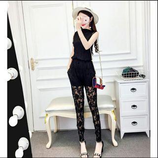 🚚 📣名媛風蕾絲性感套裝💋