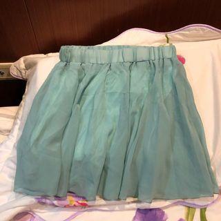 薄荷綠褲裙