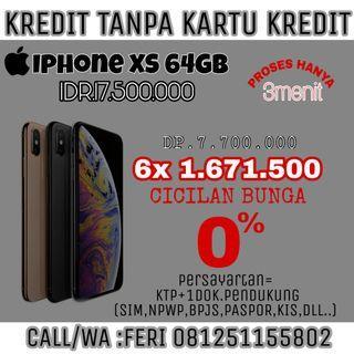 Iphone XS 64GB Kredit Bunga0% Tanpa kartu Kredit