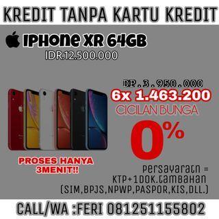 Iphone XR 64GB Bisa Di Kredit Bunga 0%